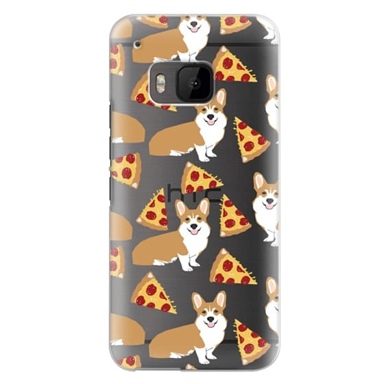 Htc One M9 Cases - Corgi pizza cheesy slices welsh corgi lovers cell phone case must have gifts for dog person with corgis