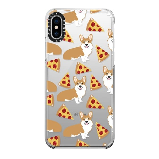 iPhone X Cases - Corgi pizza cheesy slices welsh corgi lovers cell phone case must have gifts for dog person with corgis