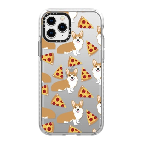 iPhone 11 Pro Cases - Corgi pizza cheesy slices welsh corgi lovers cell phone case must have gifts for dog person with corgis