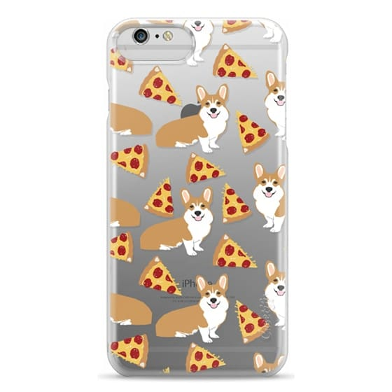 iPhone 6 Plus Cases - Corgi pizza cheesy slices welsh corgi lovers cell phone case must have gifts for dog person with corgis