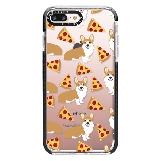 iPhone 7 Plus Cases - Corgi pizza cheesy slices welsh corgi lovers cell phone case must have gifts for dog person with corgis