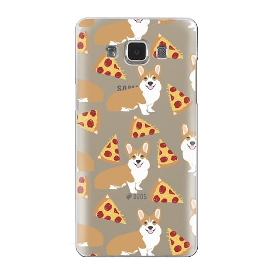 Samsung Galaxy A5 Cases - Corgi pizza cheesy slices welsh corgi lovers cell phone case must have gifts for dog person with corgis