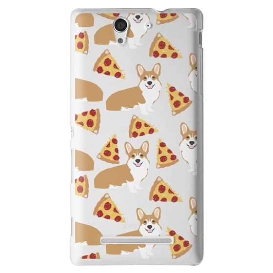 Sony C3 Cases - Corgi pizza cheesy slices welsh corgi lovers cell phone case must have gifts for dog person with corgis