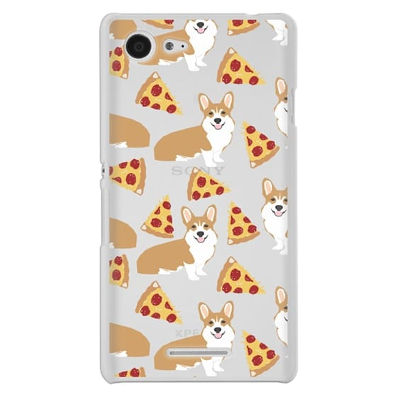 Sony E3 Cases - Corgi pizza cheesy slices welsh corgi lovers cell phone case must have gifts for dog person with corgis