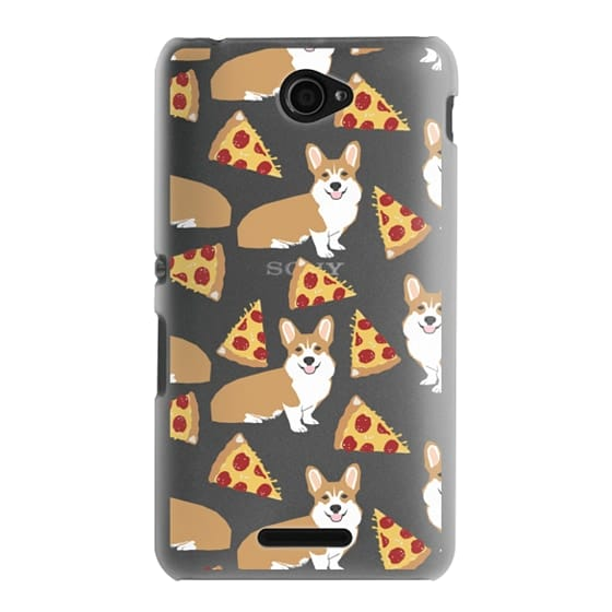Sony E4 Cases - Corgi pizza cheesy slices welsh corgi lovers cell phone case must have gifts for dog person with corgis