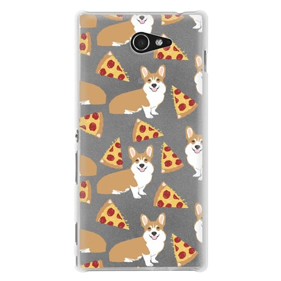 Sony M2 Cases - Corgi pizza cheesy slices welsh corgi lovers cell phone case must have gifts for dog person with corgis