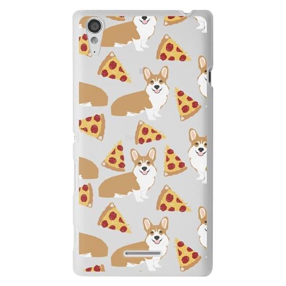 Sony T3 Cases - Corgi pizza cheesy slices welsh corgi lovers cell phone case must have gifts for dog person with corgis