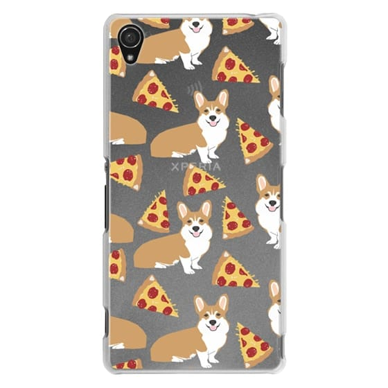 Sony Z3 Cases - Corgi pizza cheesy slices welsh corgi lovers cell phone case must have gifts for dog person with corgis
