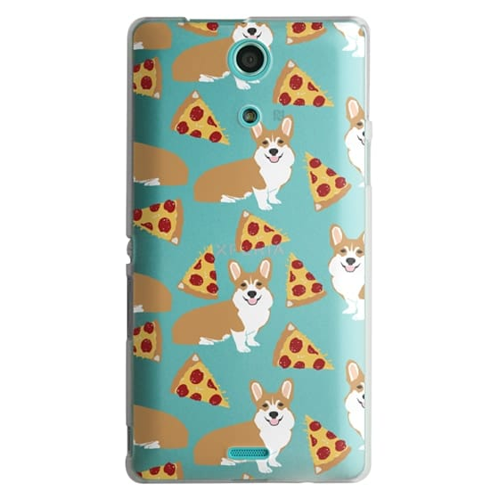 Sony Zr Cases - Corgi pizza cheesy slices welsh corgi lovers cell phone case must have gifts for dog person with corgis