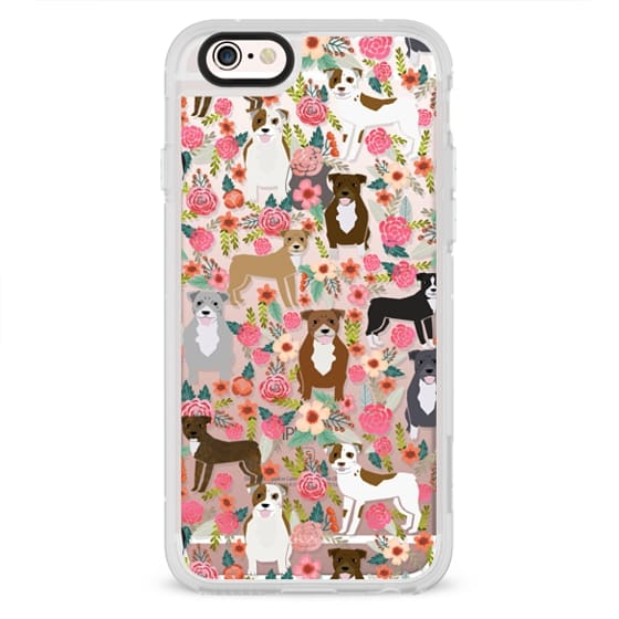 iPhone 4 Cases - Pit Bull florals dog gifts for pit bull owners must haves pet friendly tech accessories