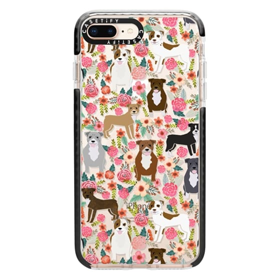 iPhone 8 Plus Cases - Pit Bull florals dog gifts for pit bull owners must haves pet friendly tech accessories
