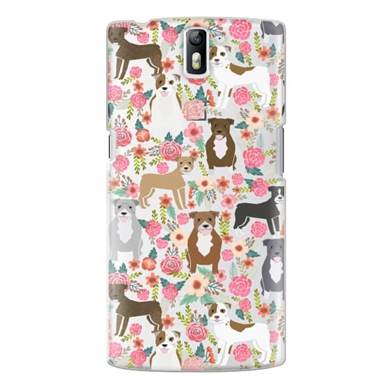 One Plus One Cases - Pit Bull florals dog gifts for pit bull owners must haves pet friendly tech accessories