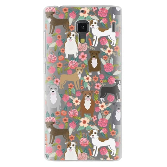 Redmi 1s Cases - Pit Bull florals dog gifts for pit bull owners must haves pet friendly tech accessories
