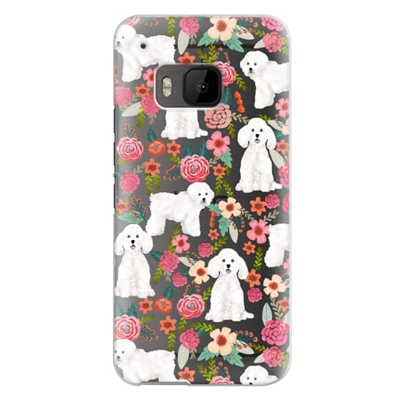 Htc One M9 Cases - Bichon florals dog breed must have gifts for bichon frise cute fluffy white dog owners rejoice at this gift