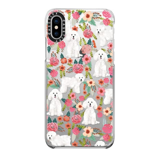 iPhone X Cases - Bichon florals dog breed must have gifts for bichon frise cute fluffy white dog owners rejoice at this gift