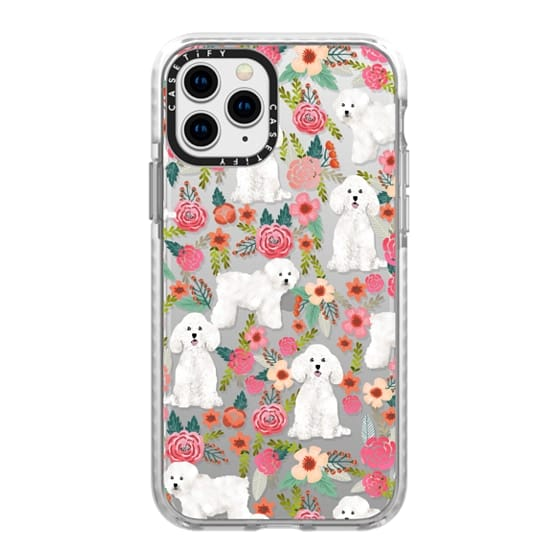 iPhone 11 Pro Cases - Bichon florals dog breed must have gifts for bichon frise cute fluffy white dog owners rejoice at this gift