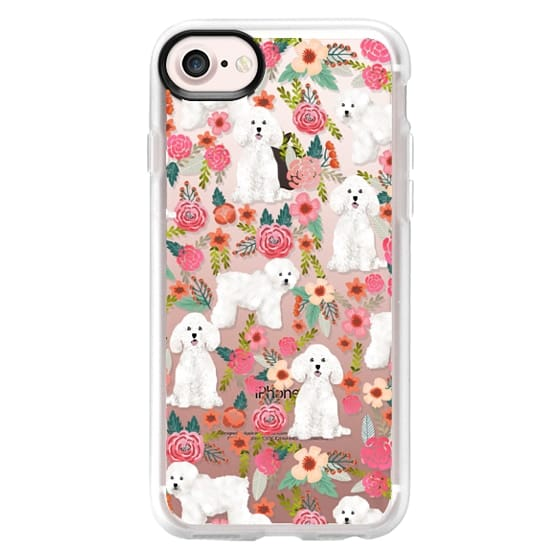 iPhone 7 Cases - Bichon florals dog breed must have gifts for bichon frise cute fluffy white dog owners rejoice at this gift