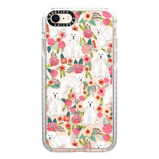 iPhone 8 Cases - Bichon florals dog breed must have gifts for bichon frise cute fluffy white dog owners rejoice at this gift