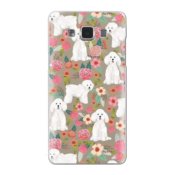 Samsung Galaxy A5 Cases - Bichon florals dog breed must have gifts for bichon frise cute fluffy white dog owners rejoice at this gift