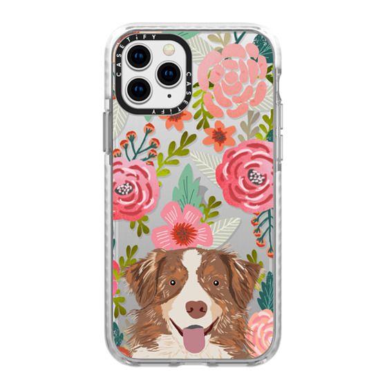 iPhone 11 Pro Cases - Cute Aussie happy australian shepherd cell phone case transparent dog iphone6 case