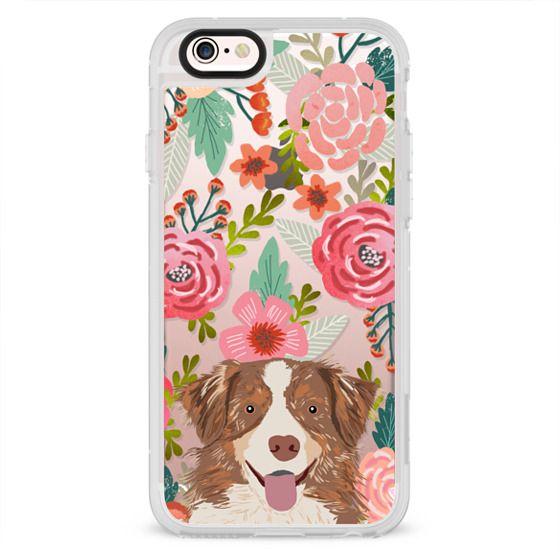 iPhone 6s Cases - Cute Aussie happy australian shepherd cell phone case transparent dog iphone6 case