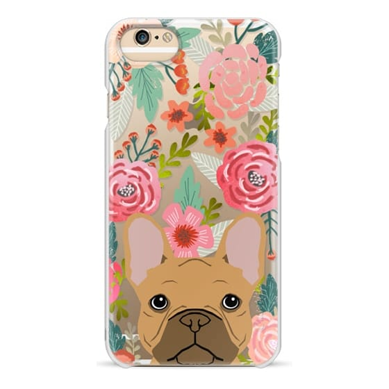 iPhone 6 Cases - French Bulldog tan cute pet portrait florals spring summer flowers transparent cell phone case