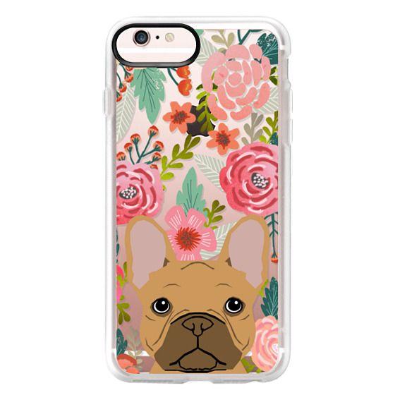 iPhone 6s Plus Cases - French Bulldog tan cute pet portrait florals spring summer flowers transparent cell phone case