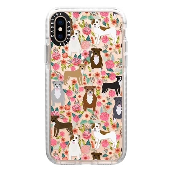 iPhone XS Cases - Pit Bull florals dog gifts for pit bull owners must haves pet friendly tech accessories