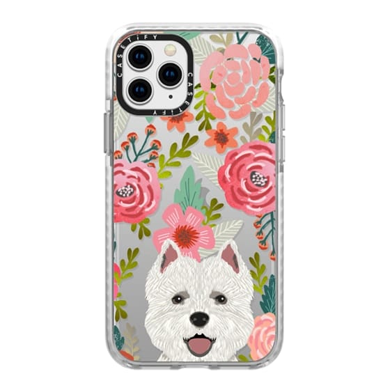 iPhone 11 Pro Cases - Highland Terrier cute florals girly hipster trendy transparent cell phone case dog breeds gifts for dog person