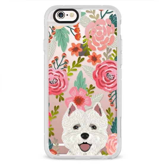 iPhone 6s Cases - Highland Terrier cute florals girly hipster trendy transparent cell phone case dog breeds gifts for dog person