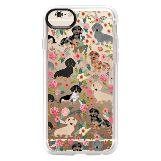 iPhone 6 Cases - Dachshunds mixed coat colors dog breed pet portrait clear cases for dog lovers custom dog breed gifts by pet friendly