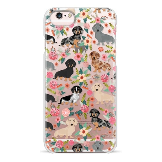 iPhone 6s Cases - Dachshunds mixed coat colors dog breed pet portrait clear cases for dog lovers custom dog breed gifts by pet friendly