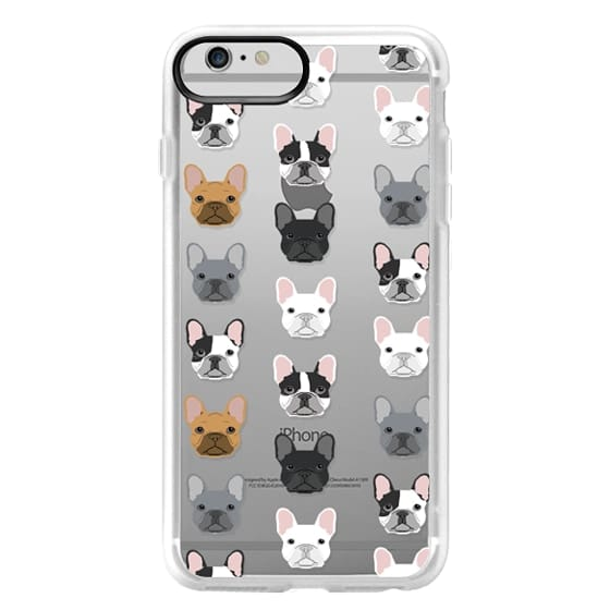iPhone 6 Plus Cases - Frenchies - cute french bulldog owners will love this clear case french bulldog dog love