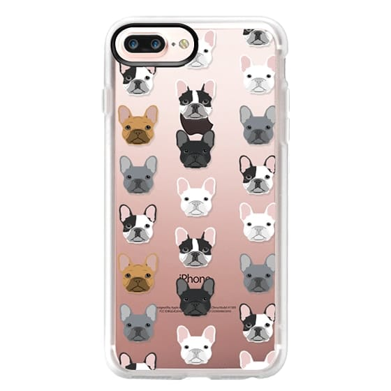 iPhone 7 Plus Cases - Frenchies - cute french bulldog owners will love this clear case french bulldog dog love