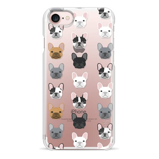 iPhone 7 Cases - Frenchies - cute french bulldog owners will love this clear case french bulldog dog love