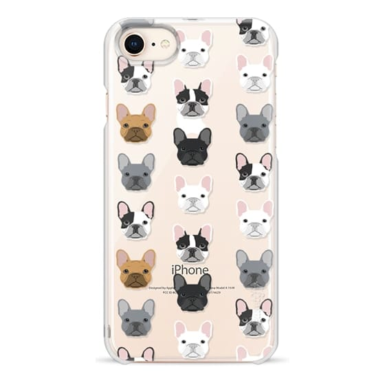 iPhone 8 Cases - Frenchies - cute french bulldog owners will love this clear case french bulldog dog love