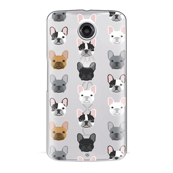 Nexus 6 Cases - Frenchies - cute french bulldog owners will love this clear case french bulldog dog love
