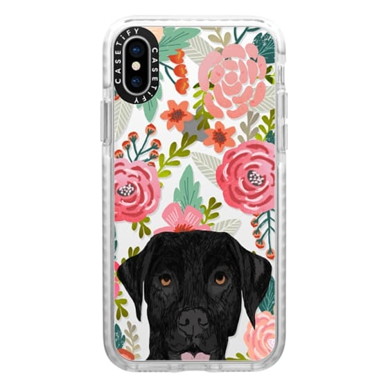 iPhone X Cases - Black Lab cute labrador retriever pet portrait dog gifts custom dog person must have cell phone transparent case