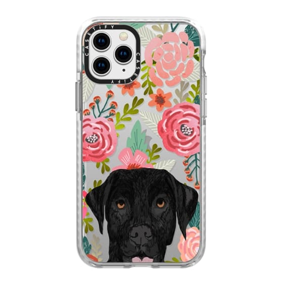 iPhone 11 Pro Cases - Black Lab cute labrador retriever pet portrait dog gifts custom dog person must have cell phone transparent case