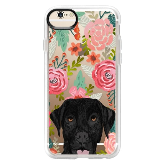 iPhone 6 Cases - Black Lab cute labrador retriever pet portrait dog gifts custom dog person must have cell phone transparent case