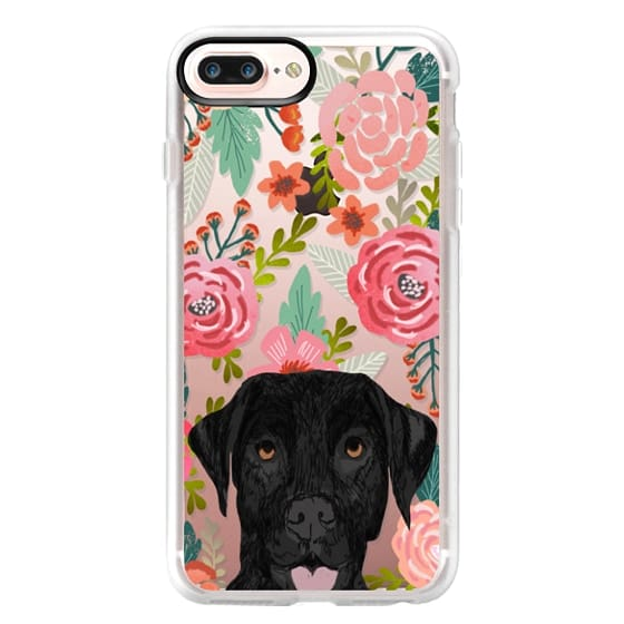 iPhone 7 Plus Cases - Black Lab cute labrador retriever pet portrait dog gifts custom dog person must have cell phone transparent case