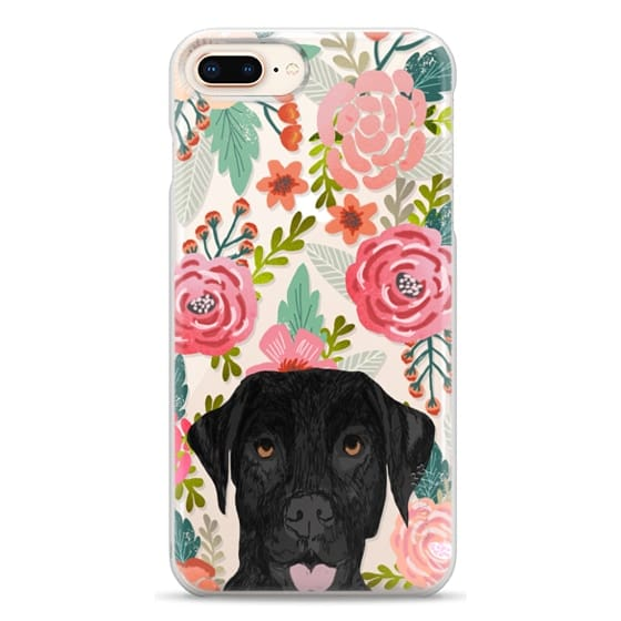 iPhone 8 Plus Cases - Black Lab cute labrador retriever pet portrait dog gifts custom dog person must have cell phone transparent case
