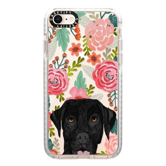 iPhone 8 Cases - Black Lab cute labrador retriever pet portrait dog gifts custom dog person must have cell phone transparent case