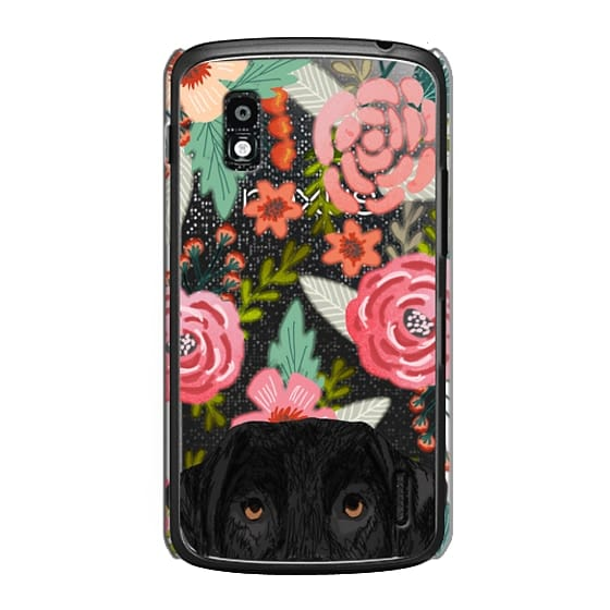 Nexus 4 Cases - Black Lab cute labrador retriever pet portrait dog gifts custom dog person must have cell phone transparent case