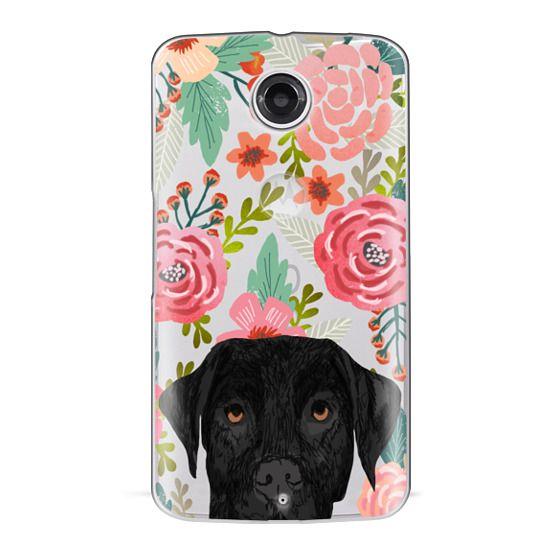 Nexus 6 Cases - Black Lab cute labrador retriever pet portrait dog gifts custom dog person must have cell phone transparent case