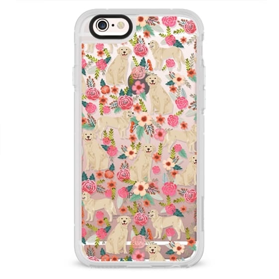 iPhone 4 Cases - Golden Retrievers Florals cute dogs dog design cute flowers labradors golden retriever owners will love this clear iphone 6 case