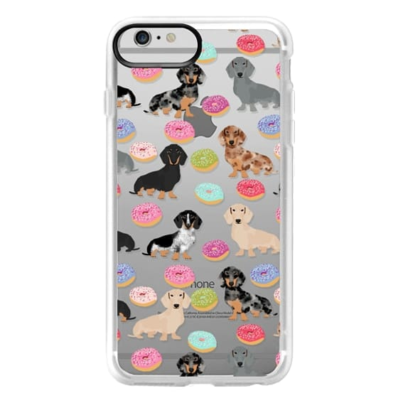 iPhone 6 Plus Cases - Dachshund donuts cute funny clear case for doxie owners must have gifts tech accessories for dog person