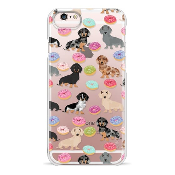 iPhone 6s Cases - Dachshund donuts cute funny clear case for doxie owners must have gifts tech accessories for dog person