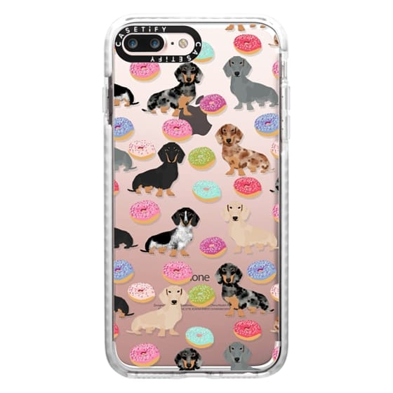 iPhone 7 Plus Cases - Dachshund donuts cute funny clear case for doxie owners must have gifts tech accessories for dog person
