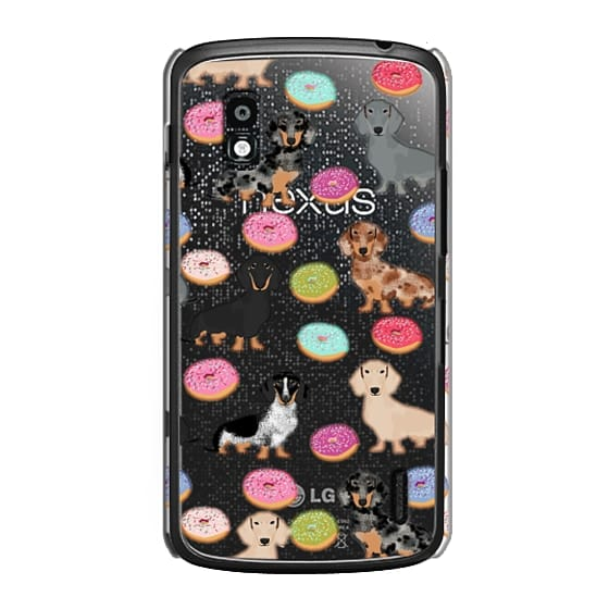 Nexus 4 Cases - Dachshund donuts cute funny clear case for doxie owners must have gifts tech accessories for dog person